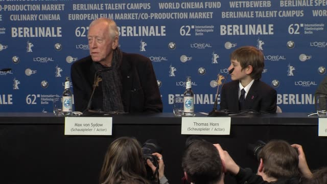 Max Von Sydow on working in theater at Extremely Loud And Incredibly Close Press Conference 62nd Berlinale International Film Festival on February 10...