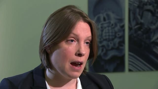 maximum stakes on fixedodds gambling machines to be cut to £2 england london westminster int tracey crouch mp interview sot we've seen more... - しゃがむ点の映像素材/bロール