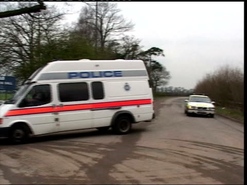 Maxine Carr appears in court on benefit fraud charges ITN Derbyshire Foston Hall EXT Police van towards then turns into prison entrance CMS Sign...