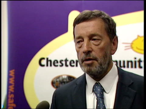 Security details stolen ITN ENGLAND Chester INT David Blunkett MP interview SOT hope people will leave her alone/ she has served her time/ she's on...