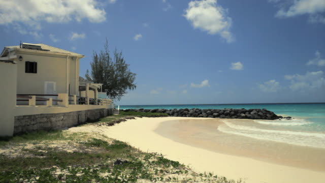 ws maxwell beach / oistins, christ church, barbados - beach house stock videos & royalty-free footage