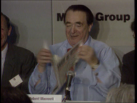 maxwell brothers arrested london ms robert maxwell posing with models at daily mirror bingo launch int cms maxwell at mirror share launch pkf cms... - robert maxwell stock videos and b-roll footage
