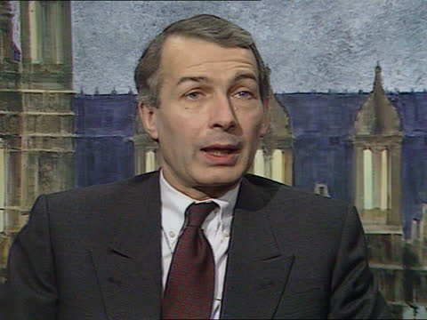 maxwell pension scandal:; england: london: cms frank field mp intvwd sof - the parties should be locked in a room with an arbitrator - itv news at one stock videos & royalty-free footage