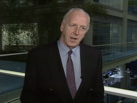 maxwell pension scandal:; england: london: itn: int cms ken trench intvwd sof - until the govt sorts out compensation there are no guarantees - itv news at one stock videos & royalty-free footage