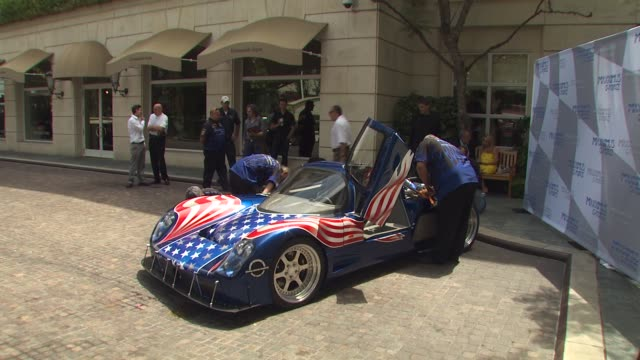 maxximus g force at the new and improved maxximus g force, the world's fastest car, unveiled at beverly hills ca. - g force stock videos & royalty-free footage