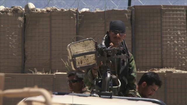 May 1 2009 MS Afghan soldier with gun / Konar Valley Afghanistan