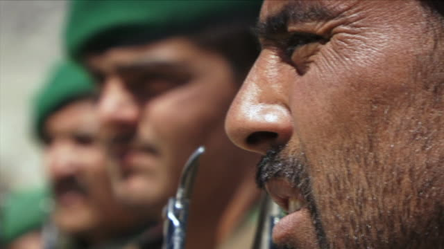 may 1 2009 cu r/f afghan soldiers / najil afghanistan - military private stock videos & royalty-free footage