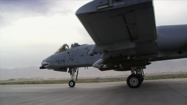 May 1 2009 MS PAN Fairchild A10 fighter plane on runway in American base / Bagram Afghanistan