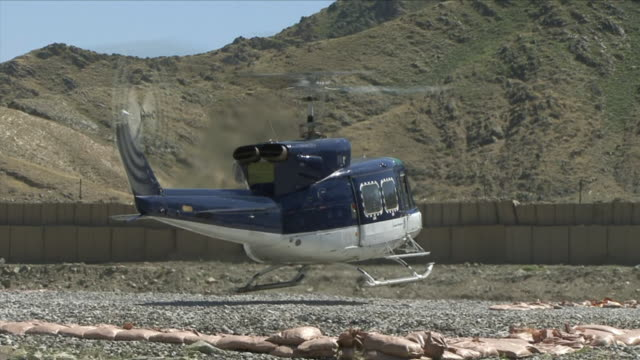 May 1 2009 WS TU Helicopter taking off / Konar Valley Afghanistan