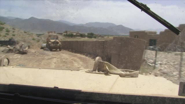 May 1 2009 MS POV Humvee arriving in base / Konar Valley Afghanistan