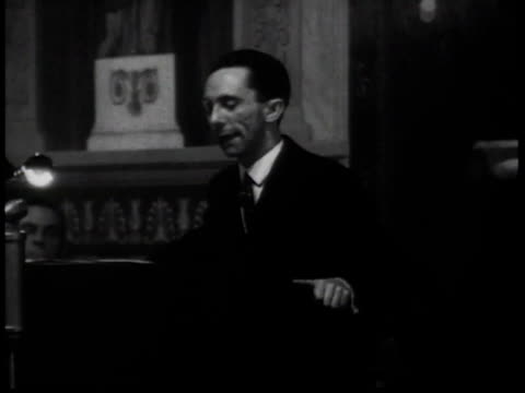 may 10 1933 b/w josef goebbels delivers an antisemitic address / germany - 1935 stock videos & royalty-free footage