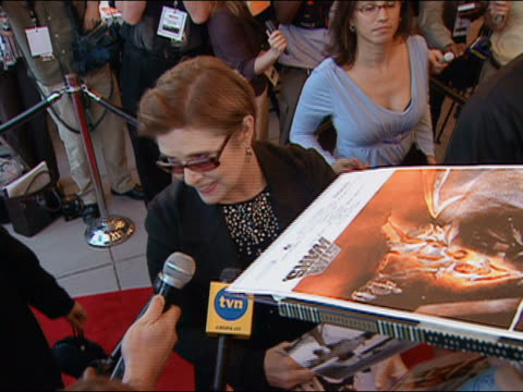 may 12 2005 carrie fisher at premiere of star wars episode 3 at uptown theater / washington dc - star wars stock videos & royalty-free footage