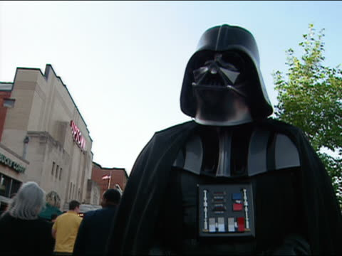 may 12, 2005 darth vader at premiere of star wars: episode 3 at uptown theater / washington, dc - 2005 stock videos & royalty-free footage
