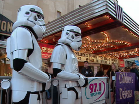 may 12 2005 stormtroopers at premiere of star wars episode 3 at uptown theater / washington dc - star wars stock videos & royalty-free footage