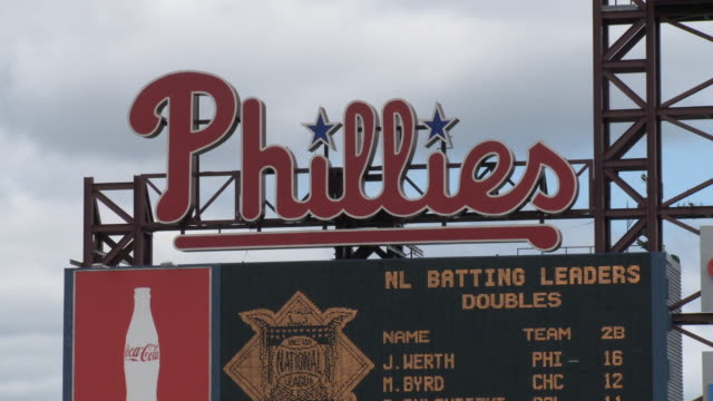 may 13 2010 la national league batting leaders sign at phillies' citizens bank park / philadelphia pennsylvania united states - philadelphia phillies stock-videos und b-roll-filmmaterial