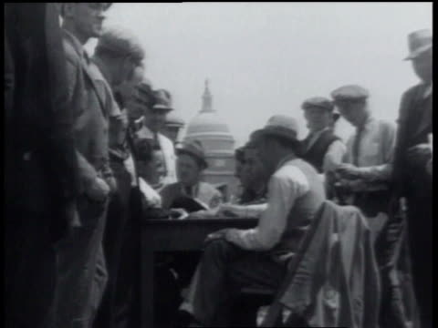 may 14, 1934 b/w men waiting in line to sign army papers / washington, d.c., united states - 1934 stock videos & royalty-free footage
