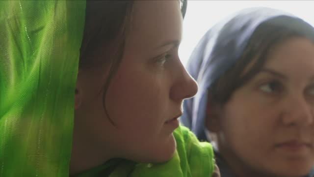 may 18 2009 cu american female soldiers wearing headscarves / panjshir valley afghanistan / audio - panjshir valley stock videos and b-roll footage