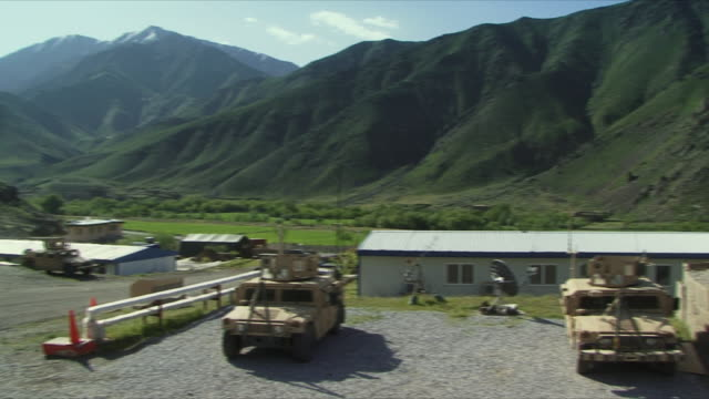 may 18 2009 ws pan american military base in valley / panjshir valley afghanistan / audio - panjshir valley stock videos and b-roll footage