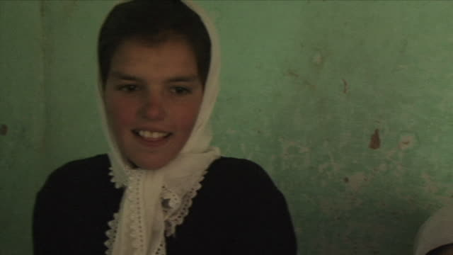 may 18 2009 ms teenage schoolgirl wearing headscarf / panjshir valley afghanistan / audio - one teenage girl only stock videos & royalty-free footage