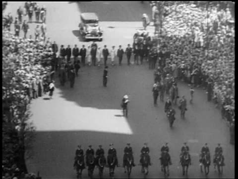 b/w may 1932 high angle people marching in beer parade on 5th avenue / new york city - 1932 stock videos & royalty-free footage