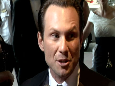 may 2009 actor, christian slater, speaking to reporter at the white house correspondents' dinner/ washington dc, usa/ audio - one mid adult man only stock videos & royalty-free footage