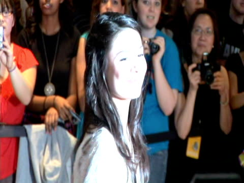 may 2009 ms actress miranda cosgrove posing for photographers at the white house correspondents' dinner/ washington dc usa/ audio - one teenage girl only stock videos & royalty-free footage