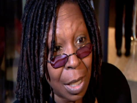 may 2009 actress, whoopi goldberg, speaking to reporter at the white house correspondents' dinner/ washington dc, usa/ audio - only mature women stock videos & royalty-free footage