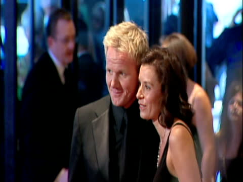 may 2009 ms chef gordon ramsay with his wife tana ramsay posing for photographers at the white house correspondents' dinner/ washington dc usa/ audio - gordon ramsay stock videos and b-roll footage