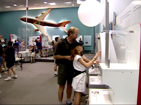 May 24 2002 WS People visiting the Air and Space Exhibit in the Smithsonian / Washington DC United States