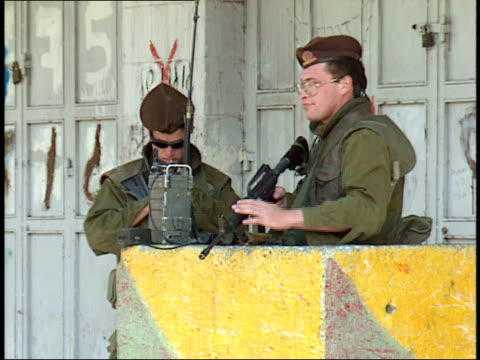 may 31, 1992 armed soldiers on duty on the streets / israel - israeli military stock videos & royalty-free footage