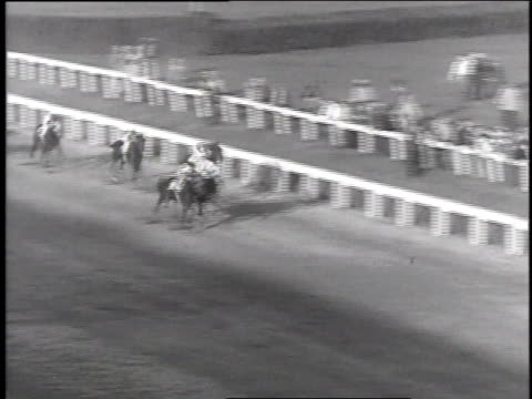 may 6, 1935 horses racing for the finish line at kentucky derby / churchill downs, kentucky, united states - 1935 stock videos & royalty-free footage