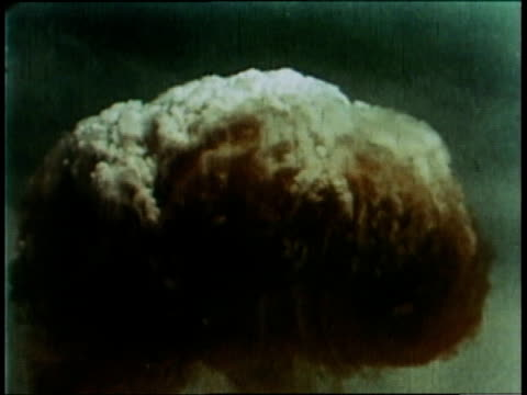 may 9 1966 ws mushroom cloud rising from thermonuclear explosion / china - atomic bomb testing stock videos & royalty-free footage