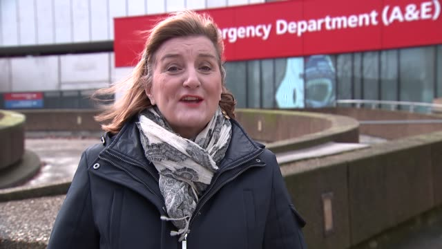 May apologises for cancelled operations as new figures reveal strain on NHS London St Thomas' Hospital EXT Reporter to camera SOT