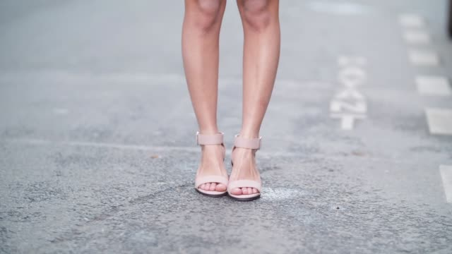may berthelot head of legal at videdressingcom and fashion blogger wears zara white short a new look pink shirt new look pink sandals and a chanel... - pink shirt stock videos and b-roll footage