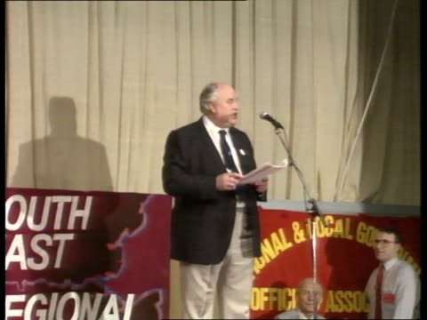 May Day March/Rally **** FOR ENGLAND London Norman Willis TUC General Secretary speaking at May Day Rally SOF