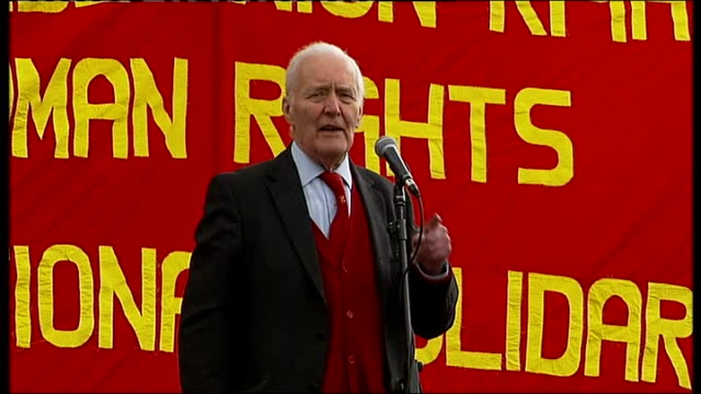 may day protests in london talks of hostility of the conservative party to public services / mrs thatcher realised she had to attack the pillars of... - multiculturalism stock videos & royalty-free footage