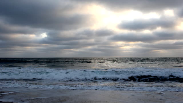 may gray june gloom san diego sunset - carlsbad california stock videos & royalty-free footage