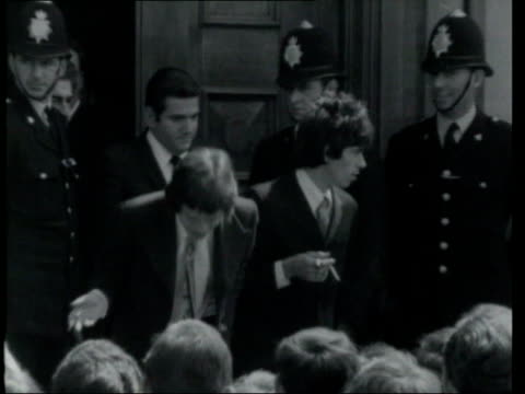 may in 1967 mick jagger and keith richards were found guilty of drugs charges chichester ext b/w footage rolling stones members mick jagger and keith... - rolling stones stock videos & royalty-free footage