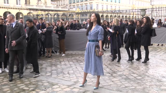 May Wang attends the Christian Dior show as part of the Paris Fashion Week Womenswear Fall/Winter 2016/2017 on March 4 2016 in Paris France