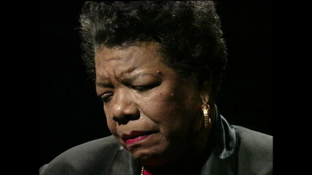 maya angelou contemplates the possible reason why her mother's boyfriend raped her as a child but doesn't condone his behaviour; 1994. - film moving image stock videos & royalty-free footage