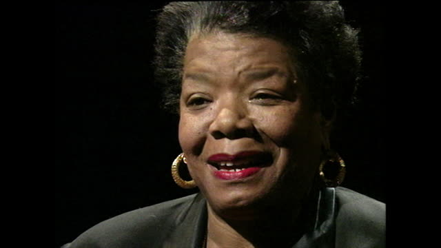 maya angelou on her mother's anger and how she kept it to herself; 1994. - black background stock videos & royalty-free footage