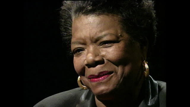 maya angelou recalls becoming a single mother as a teenager, her mother's reaction and her pride in her son; 1994. - multi generation family stock videos & royalty-free footage