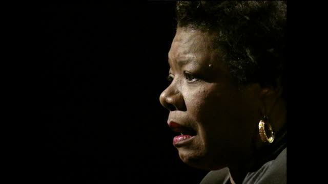 maya angelou recalls being educated in her village as a child and using a blackboard to communicate due to her childhood mutism 1994 - pen stock videos & royalty-free footage