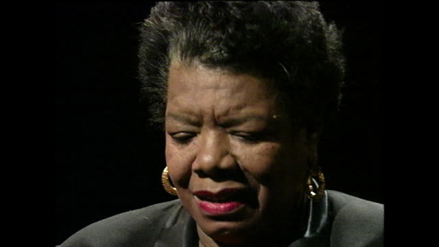 maya angelou recalls how her uncle was a supportive figure; 1994. - multi generation family stock videos & royalty-free footage