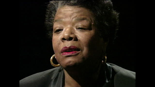 maya angelou recalls memories of the ku klux klan in her village growing up and how they didn't wear the white robes or hoods; 1994. - アメリカ黒人の歴史点の映像素材/bロール