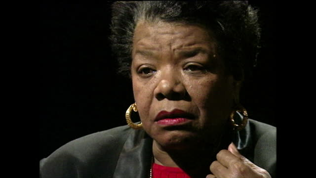 maya angelou recalls the reasons behind being mute as a child for five years. her childhood rapist was attacked by vigilantes and killed after she... - black background stock videos & royalty-free footage