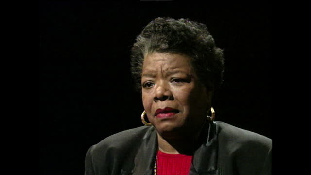 maya angelou responds to being called a feminist writer; 1994. - black background stock videos & royalty-free footage