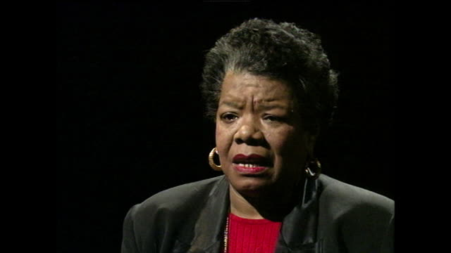 maya angelou response to being asked whether she feels her writing has changed the way black americans view the world or how the world views black... - one woman only stock videos & royalty-free footage