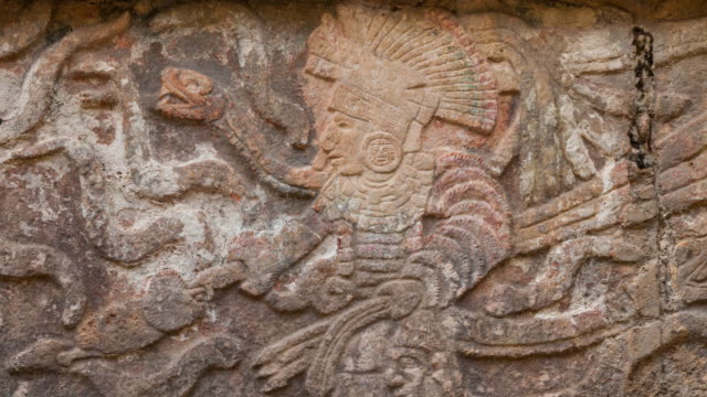 maya archeological site of chichén itzá - old ruin stock videos & royalty-free footage