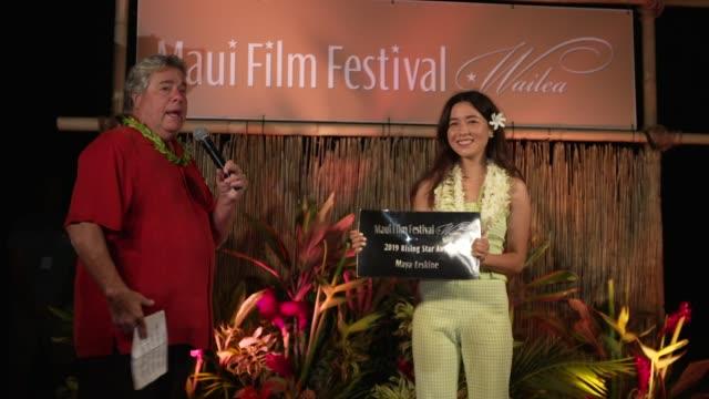 maya erskine at the 2019 maui film festival - day 3 on june 14, 2019 in wailea, hawaii. - 3日目点の映像素材/bロール